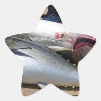 yellow fins tuna star sticker