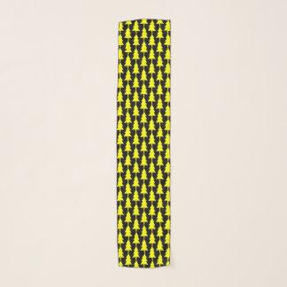 Yellow Fir Tree Pattern Funky Chiffon Scarf