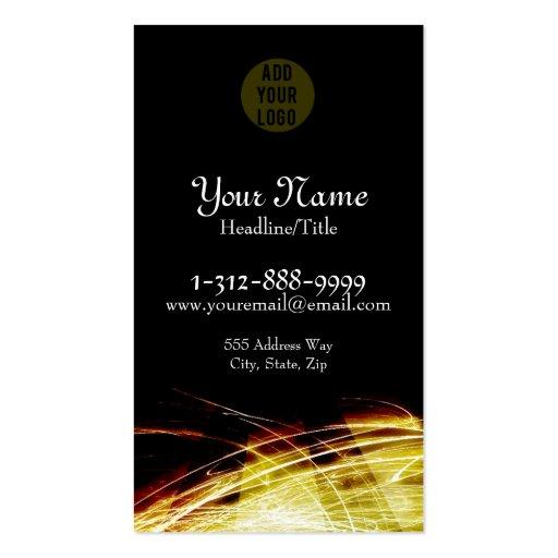 Yellow Fire Fractals Business Card