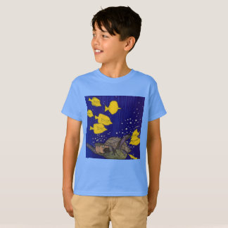 Yellow fish and turtle T-Shirt