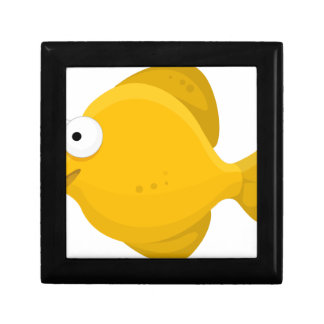 Yellow Fish Cartoon Gift Box
