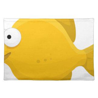 Yellow Fish Cartoon Placemat
