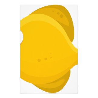 Yellow Fish Cartoon Stationery