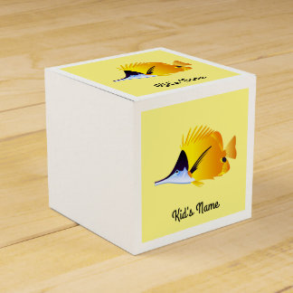 Yellow fish favour box