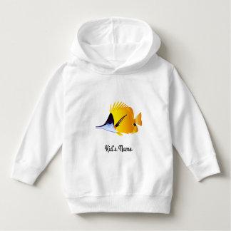 Yellow fish hoodie