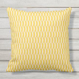 Yellow Fish Scales Pattern Cushion
