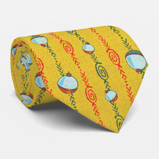 Yellow Fishing Bobber Tie