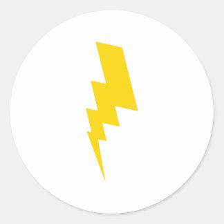 yellow flash round sticker