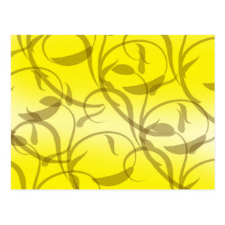 Yellow Fleur Swirls Postcard