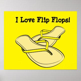 Yellow Flip Flops Pop Art Poster