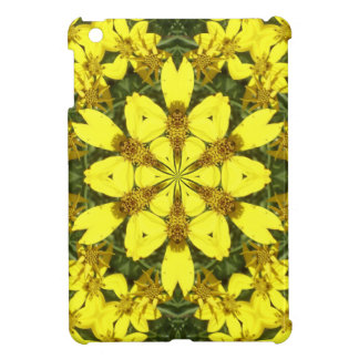 yellow floral abstract design daisies cover for the iPad mini