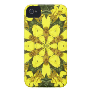 yellow floral abstract design daisies iPhone 4 cover