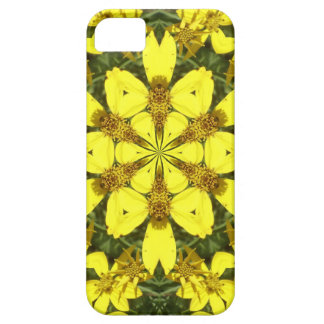 yellow floral abstract design daisies iPhone 5 cover