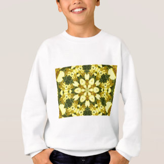 yellow floral abstract design daisies sweatshirt