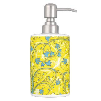 Yellow Floral Bath Set