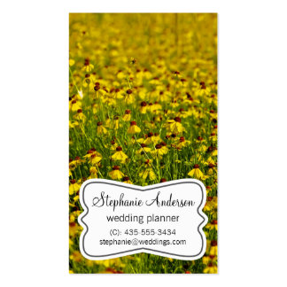 Yellow Floral Business Card