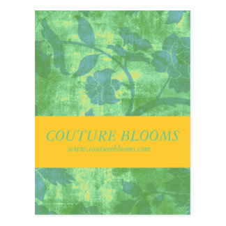 Yellow Floral Couture Business Opening Mailing Postcard