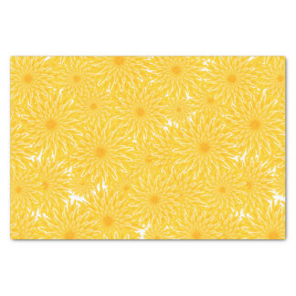 yellow floral dandelions pattern tissue paper