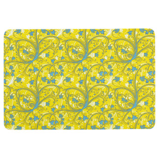 Yellow Floral Floor Mat