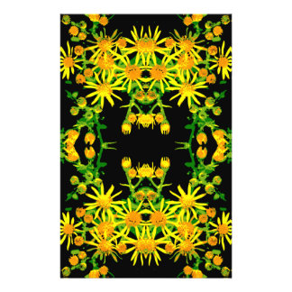 Yellow Floral Graphic. Flyers