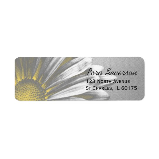 Yellow Floral Highlights Return Address Label
