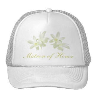 Yellow Floral Matron of Honor Hat