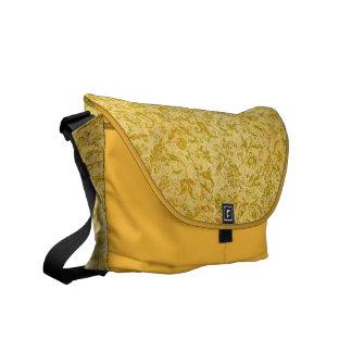 Yellow Floral Messenger Bag