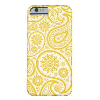 Yellow Floral Paisley Monogram Pattern Barely There iPhone 6 Case