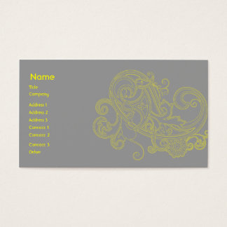 Yellow Floral Pattern - Business