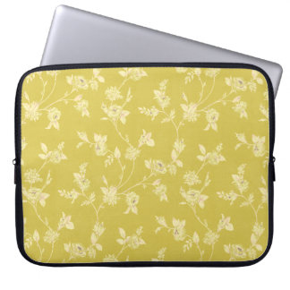 Yellow Floral Pattern Laptop Sleeve