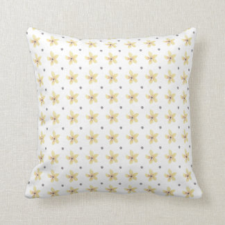 Yellow Floral Polka Dot Cushion