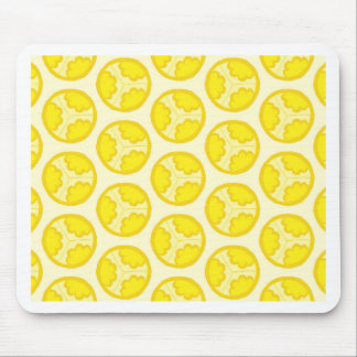 Yellow floral spheres mouse pad