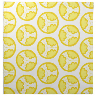Yellow floral spheres napkin