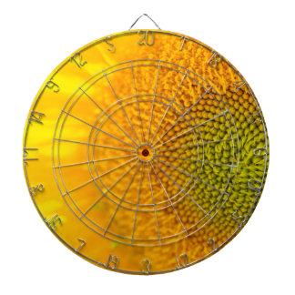 Yellow Floral Sunflower Dartboard