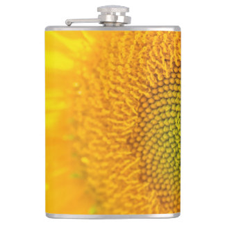 Yellow Floral Sunflower Hip Flask