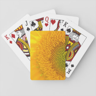 Yellow Floral Sunflower Playing Cards