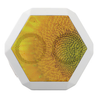 Yellow Floral Sunflower White Bluetooth Speaker