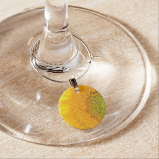 Yellow Floral Sunflower Wine Charm