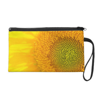 Yellow Floral Sunflower Wristlet