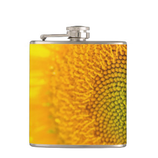 Yellow Floral Sunflowers Hip Flask