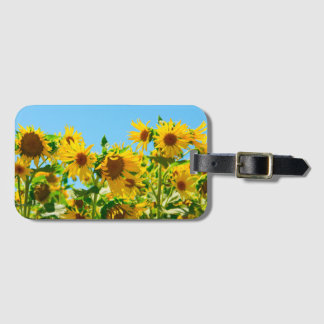 Yellow Floral Sunflowers Luggage Tag