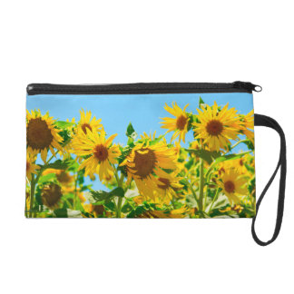 Yellow Floral Sunflowers Wristlet