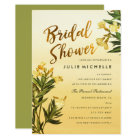 Yellow  Floral Watercolor Bridal Shower Invitation