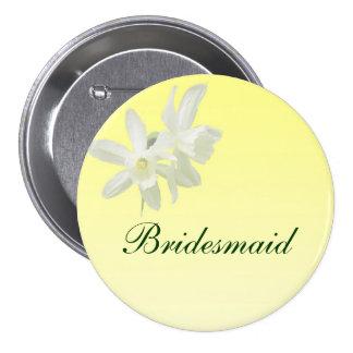 Yellow Floral Wedding Bridesmaid Pin