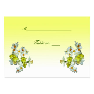 Yellow Floral Wedding Escort Card Business Card Templates