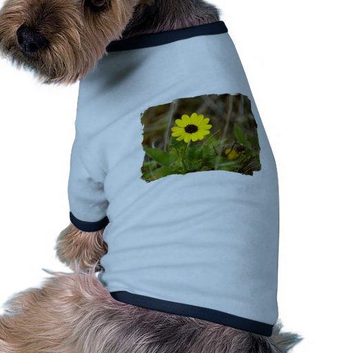 Yellow Florida Wildflower Doggie T Shirt