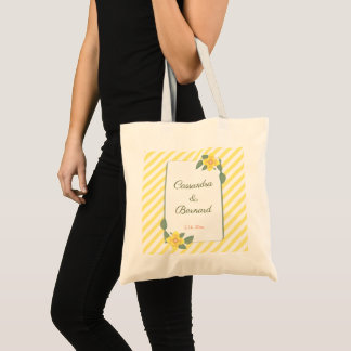 Yellow Flower and Stripe Wedding | Basic Tote