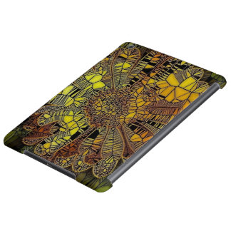yellow flower as stained glass iPad air case