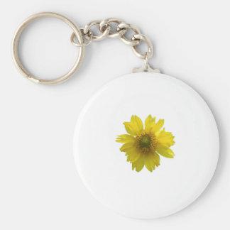 Yellow Flower Basic Round Button Key Ring