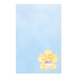Yellow Flower Bear Stationery